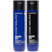 Matrix Brass Off Colour Correcting Blue Anti-Brass Shampoo and Conditioner Duo Set For Lightened Brunettes 300ml
