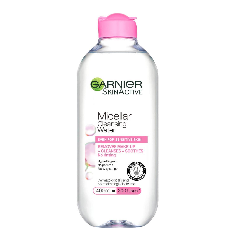 Garnier Micellar Water Facial Cleanser and Makeup Remover for Sensitive  Skin 400ml   BeautyExpert