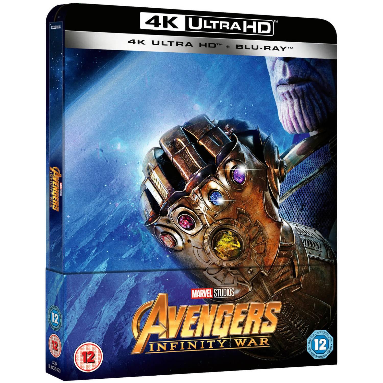 Avengers Infinity War 4k Ultra Hd Inkl 2d Version Zavvi Uk Exklusives Limited Edition Steelbook Blu Ray Zavvi De