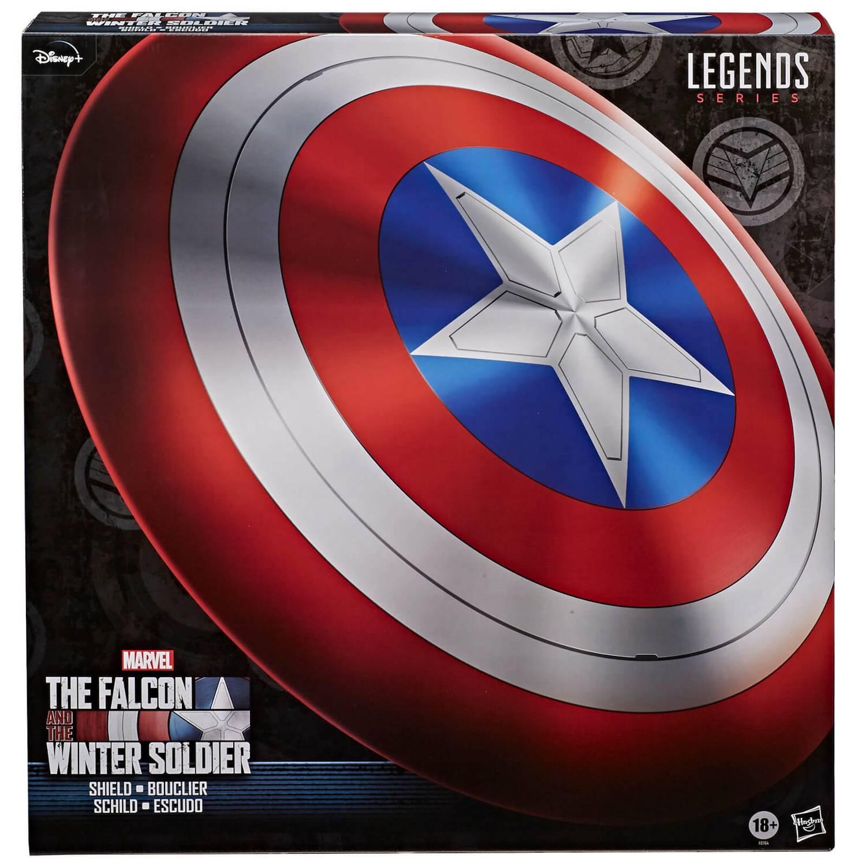 Hasbro Marvel Legends Falcon and Winter Soldier Captain America Premium  Rollenspiel Schild