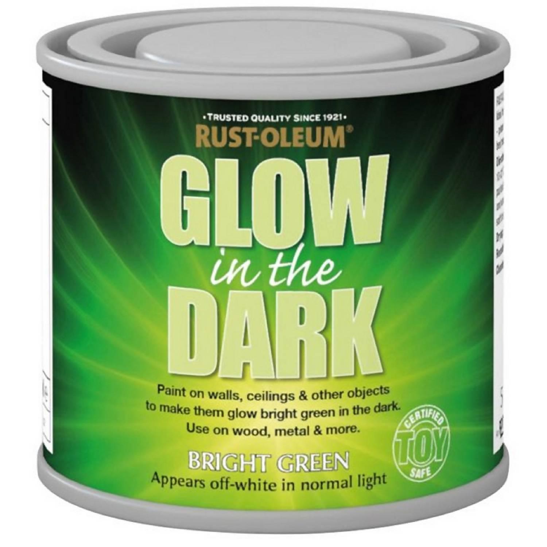 Rust Oleum Glow In The Dark Paint 125ml Homebase