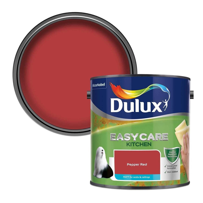 Dulux Easycare Kitchen Matt Pepper Red Matt Emulsion Paint 2 5l Homebase
