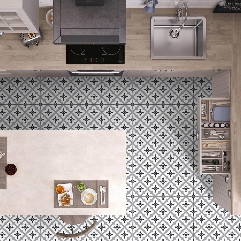 9 Seasons Grey Floor Tile   9 x 9mm