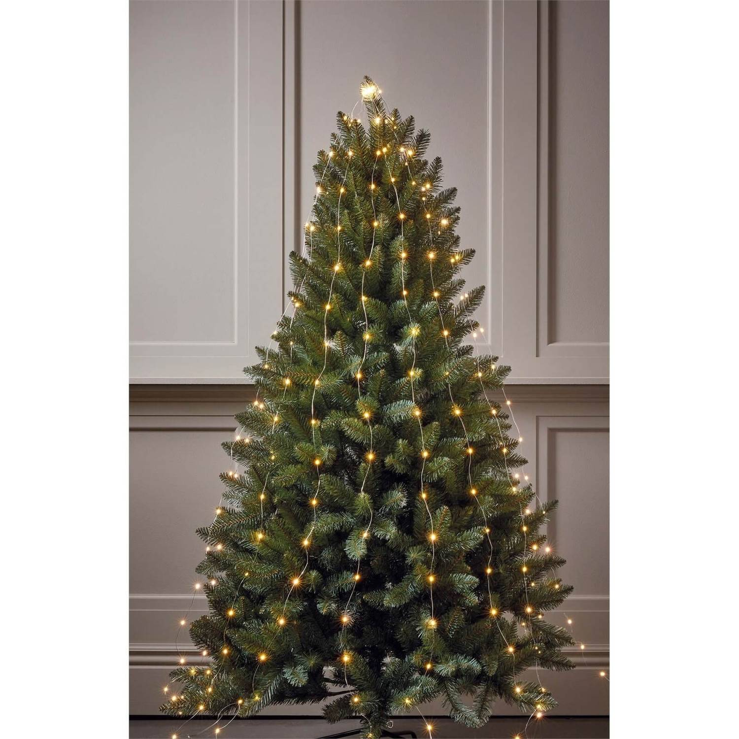 Silver Copper Wire Warm White Christmas Tree Lights 10 Strands Homebase