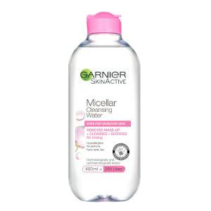 Garnier Micellar Water Facial Cleanser and Makeup Remover forSensitive Skin 400ml