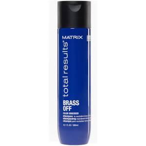Matrix Total Results Brass Off Brunette Neutralising Blue Shampoo for Lightened Brunette Hair300ml