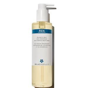 REN detergente corpo anti-fatica con alghe brune dell'Atlantico e magnesio - 300 ml (confezione con plastica marina riciclata)
