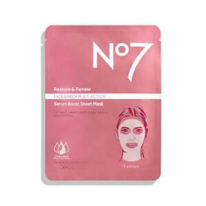 Restore & Renew Multi Action Face & Neck Serum Boost Sheet Mask