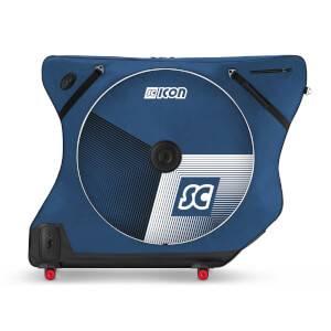 Scicon (シーコン) AeroComfort ロード 3.0 TSA バイクバッグ - 限定版 - Stelvio - ブルー パスポートウォレット&レインバッグ付き