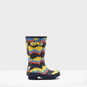 Hunter Kids' Original Storm Stripe Boots - Navy
