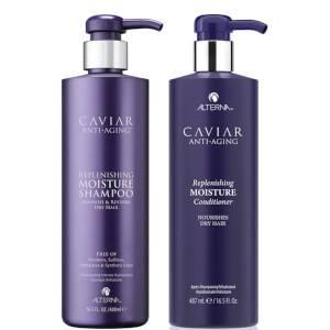 Alterna Caviar Anti-Aging Replenishing Moisture Shampoo and Conditioner 16.5 oz (Worth $132)