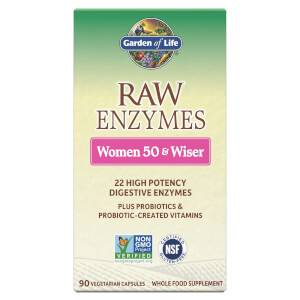 Raw Enzymes Women 50+ and Wiser 全天然 50 歲以上女性酵素 - 90 粒膠囊