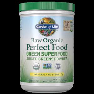 Органический порошок из сока зелени растений Raw Organic Perfect Food Green Superfood — Натуральный вкус — 414 г