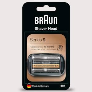 Braun Series 9 92B Electric Shaver Head Replacement, Black