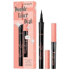 benefit Double Liner Deal Roller Liner Liquid Eyeliner Duo Set Black