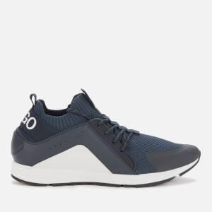 HUGO Men's Hybrid Running Style Trainers - Dark Blue