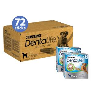 DENTALIFE Large Dog Treat Dental Chew 72 Stick