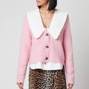 Ganni Women's Soft Wool Knit Cardigan - Sweet Lilac