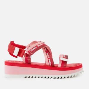 Tommy Jeans Women's Webbing Strappy Sandals - Bubble Pink