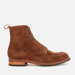 Grenson Men's Sawyer Suede Lace Up Boots - Cigar