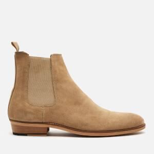 Walk London Men's Michael Suede Chelsea Boots - Stone