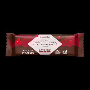 Dark Chocolate & Cranberry Layered Meal Replacement Bar