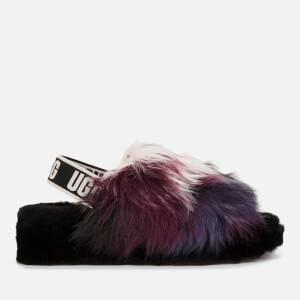 UGG Women's Fluff Yeah Slide Tie Die Slippers - Magnolia