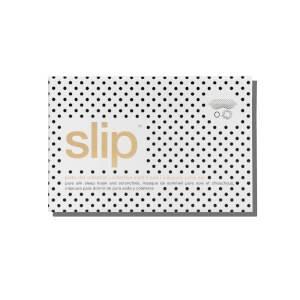 Slip Polka Dot Sleep Mask, Large Polka Dot Scrunchie and Black Skinny Scrunchie Gift Set