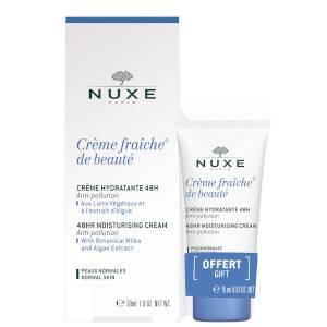 NUXE Crème Fraiche de Beauté 48hr Moisturising Cream for Normal Skin 30ml with 15ml Gift (Worth £25.50)