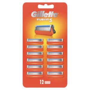 Gillette Fusion Razor Blades Refill, 12 Pack