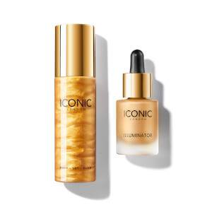 ICONIC London Exclusive Gold Prep-Set-Glow and Illuminator Duo