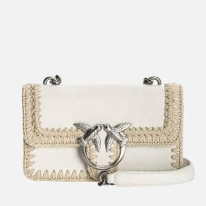 Pinko Women's Love Mini Icon Stitched Shoulder Bag - White