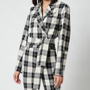 Baum Und Pferdgarten Women's Blayn Jacket - Cream Black Check