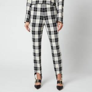 Baum Und Pferdgarten Women's Naleen Trousers - Cream Black Check