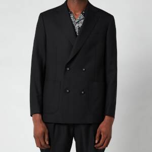 Officine Generale Men's Leon Double Breasted Jacket - Black