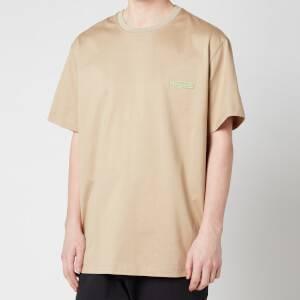 Wooyoungmi Men's Basic Back Logo T-Shirt - Beige