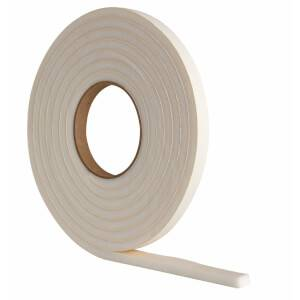 Extra Thick Foam Weather Door Seal - White - 3.5m