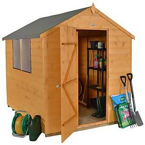 8x6ft Forest Wooden Shiplap Dip Treated Apex Shed -incl. Installation