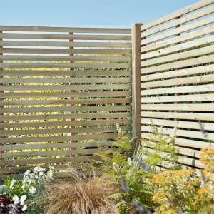 Forest Slatted Fence Panel - 6ft - Pack of 3
