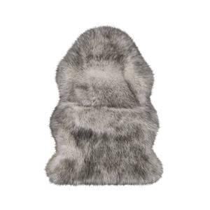 Faux Fur Sheepskin Rug - White Tipped