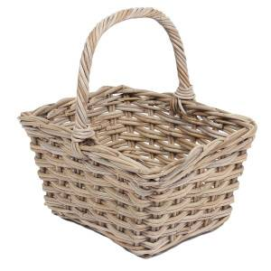 Wicker Square Flower Basket