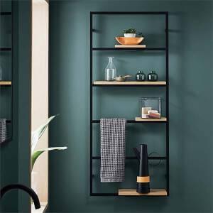 Bathstore Noir Wall Hung Shelf Unit