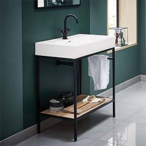 Bathstore Noir 800mm Basin and Frame Unit