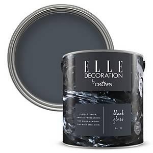 ELLE Decoration by Crown Flat Matt Paint - Black Glass 2.5L