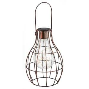 Small Solar Lightbulb Cage Lantern