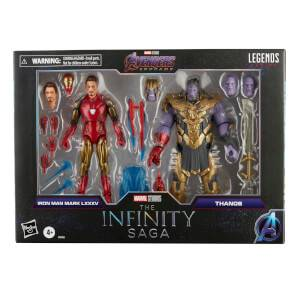 Hasbro Marvel Legends Series 6-inch Iron Man Mark 85 vs. Thanos Action Figure 2 Pack