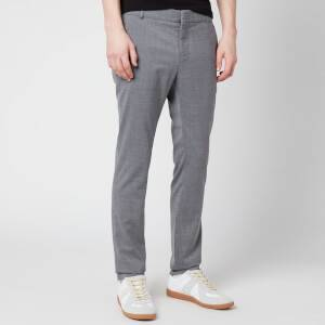 Balmain Men's Slim Wool Trousers - Grey