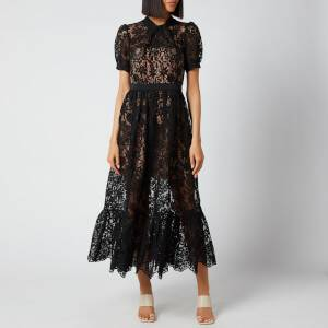 Self-Portrait Women's Lace Midi Dress - Black