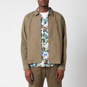YMC Men's Bowie Zip Shirt - Olive