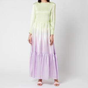 Olivia Rubin Women's Sadie Midi Dress - Lilac Green Ombre
